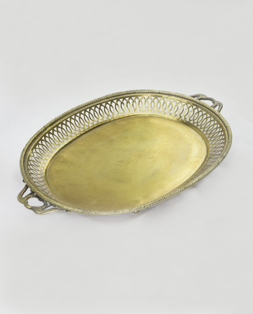 Brass Tray Flat Large Vj37