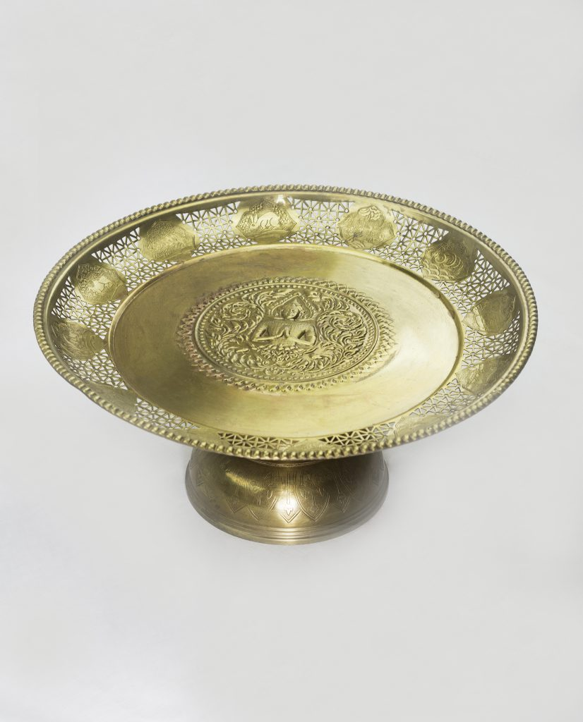 Brass Tray High Large Vj34