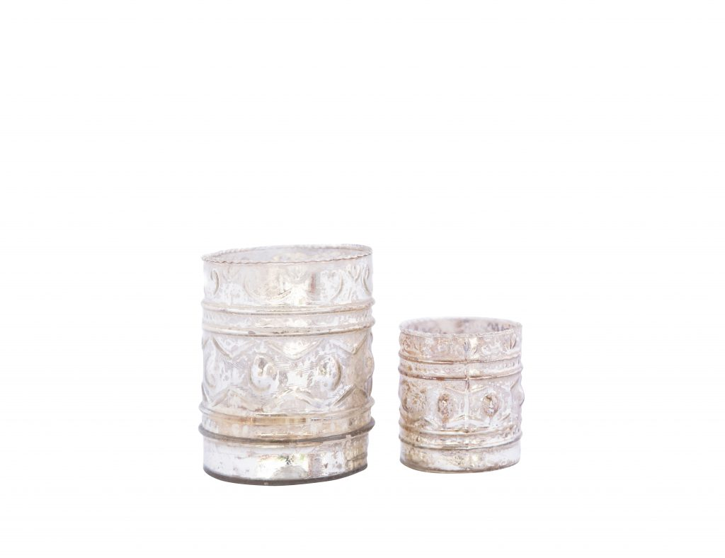 Silver Tealight Holder Set Dl13 2