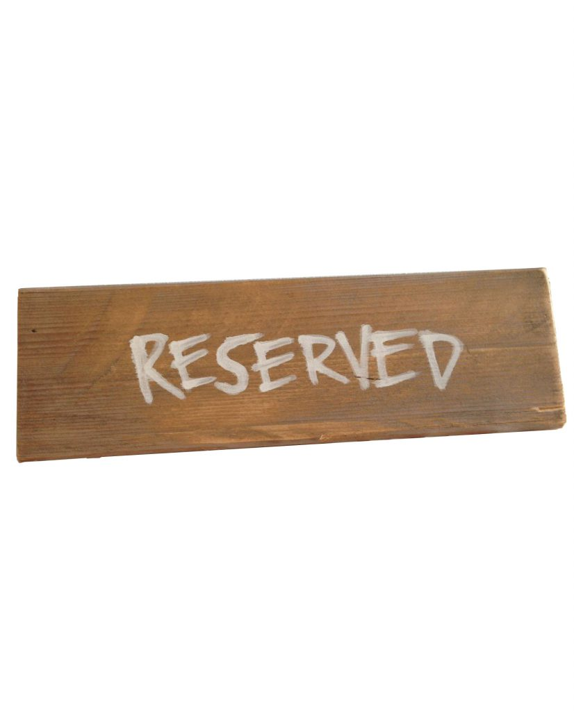 Wooden Reserved