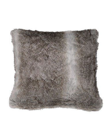 Faux Fur Cushion Brown