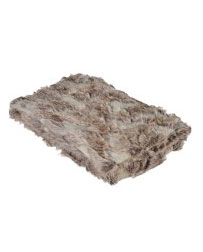 Faux Fur Throw Brown