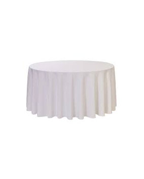 White Round Large
